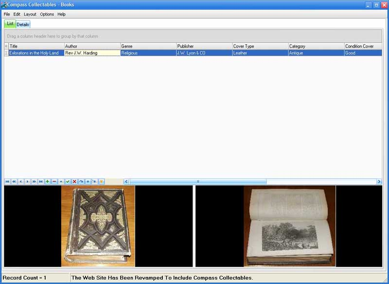 Compass Collectables Books Screen shot