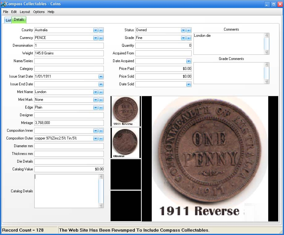 Form View Image for Coins