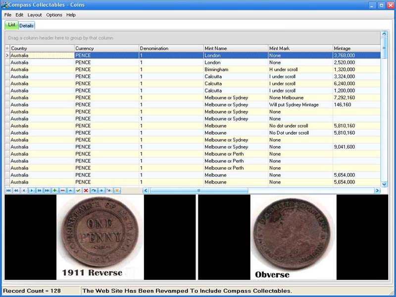 Compass Collectables Coins Screen shot