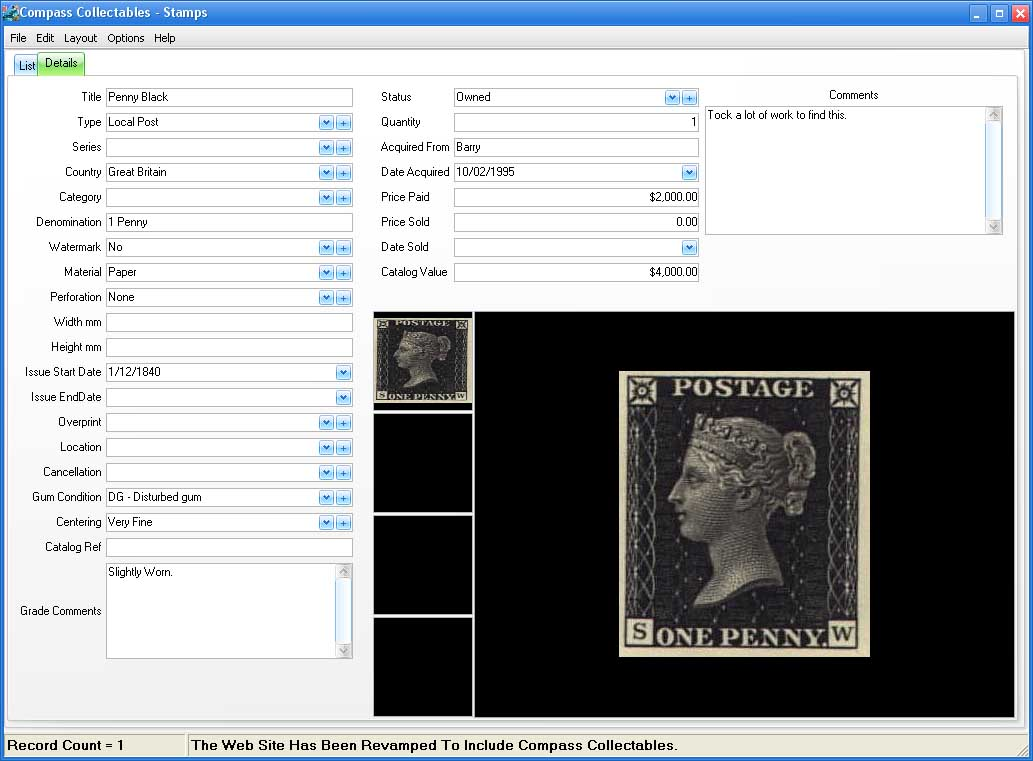Form View Image for Stamps and First Day Covers's